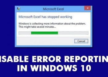 Disable-error-reporting-